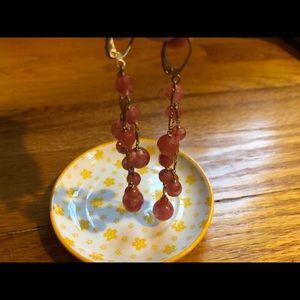 Jewelry - orange dangle ball earrings